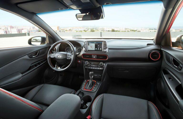 2018 Hyundai Kona's driver's cockpit
