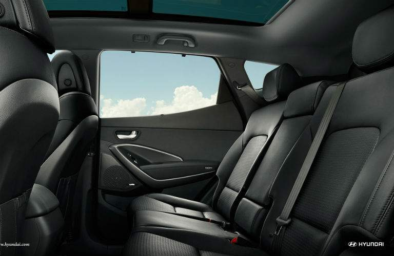 Side view of the 2018 Hyundai Santa Fe Sport's rear seats