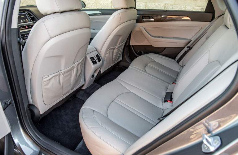 Side view of the 2018 Hyundai Sonata's rear seat