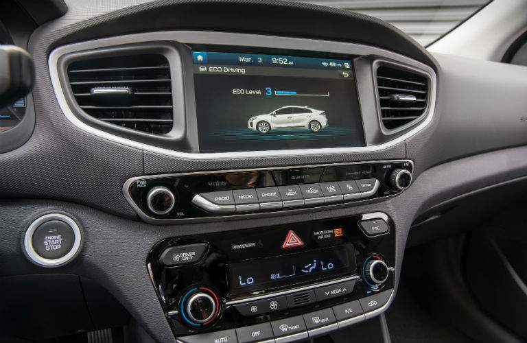 Touchscreen display of the 2018 Hyundai Ioniq Hybrid