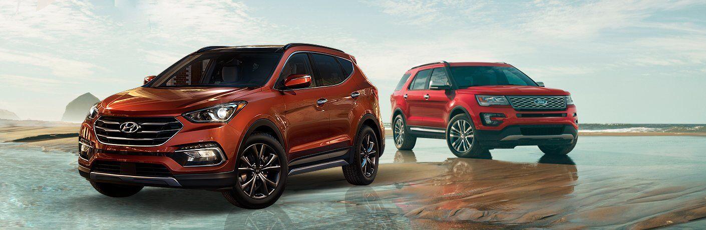 2017 Hyundai Santa Fe vs 2017 Ford Explorer