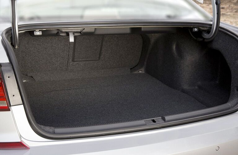 Trunk of White 2018 Volkswagen Passat