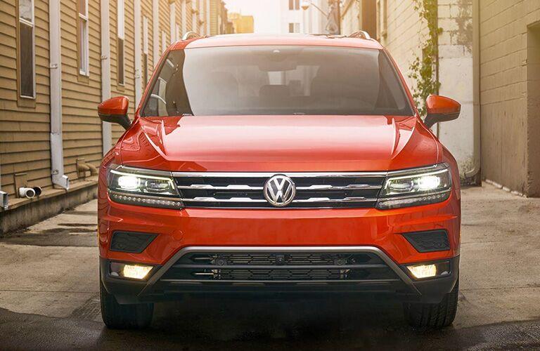 Front View of Orange 2018 Volkswagen Tiguan