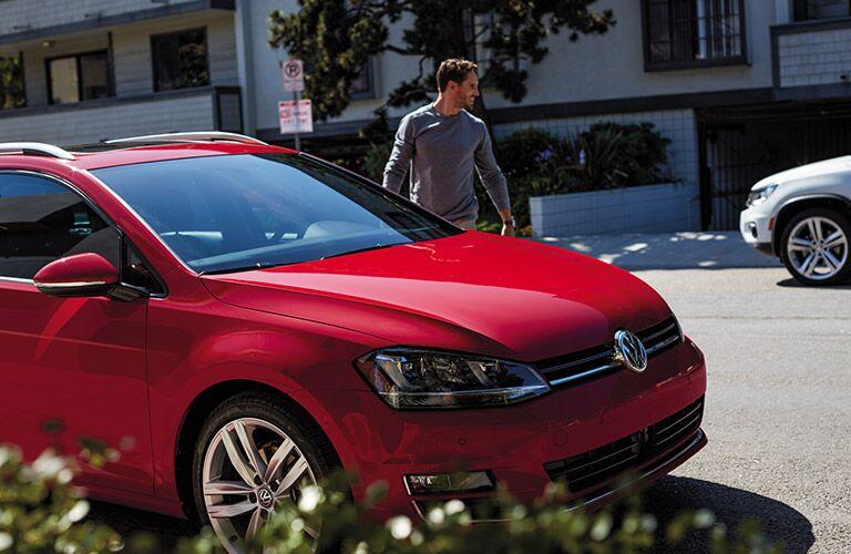 2016 Volkswagen Golf SportWagen Torrance CA in red paint color