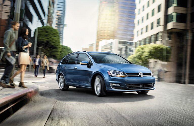 2016 Volkswagen Golf SportWagen Torrance CA in blue paint color