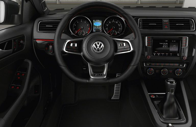 interior design and features for the 2106 vw jetta gli