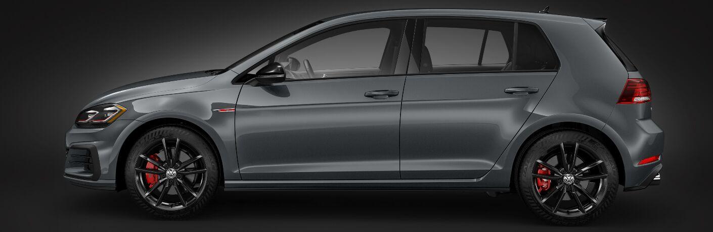 Side view of grey 2019 Volkswagen Golf GTI
