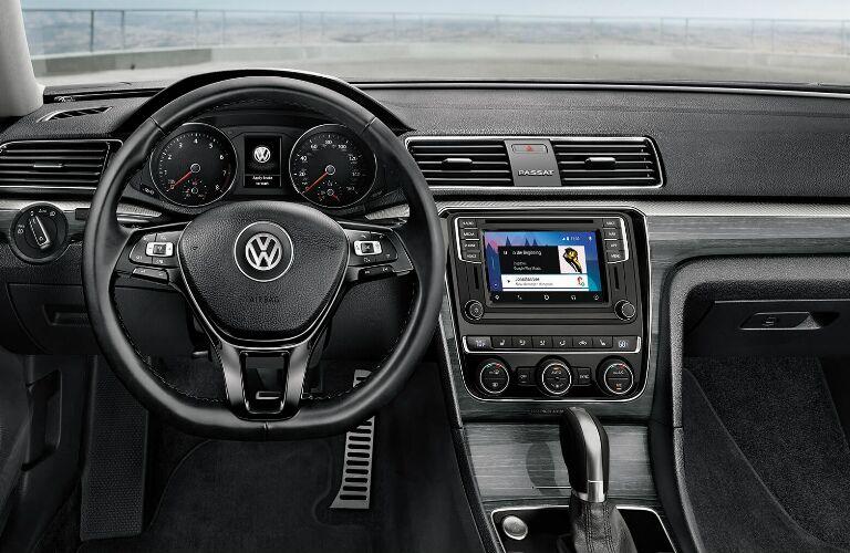 Steering Wheel, Gauges, and Touchscreen in 2019 Volkswagen Passat