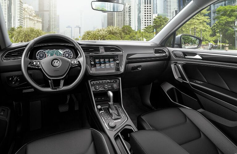 Dashboard and Grey Front Seats in 2019 Volkswagen Tiguan