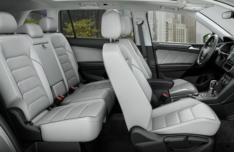 Light Grey Front Seats and Second Row Seats in 2019 Volkswagen Tiguan