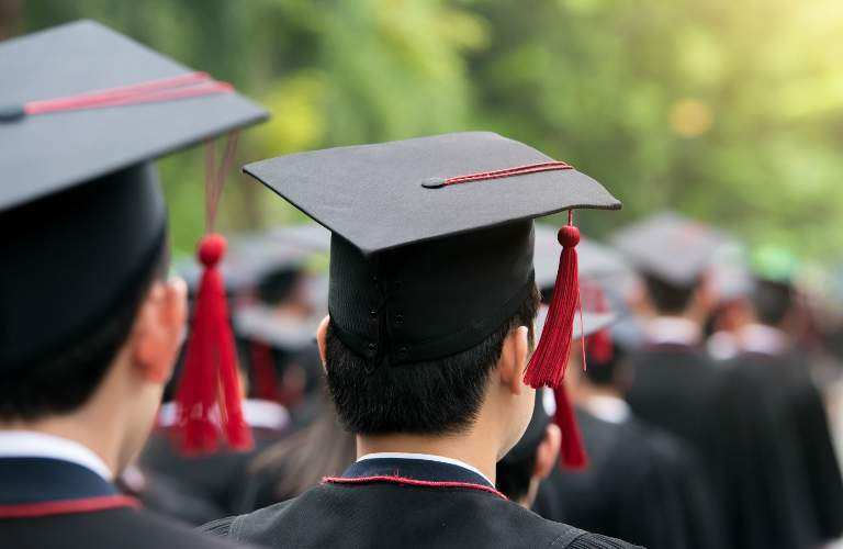 College Graduates at Commencement Ceremony