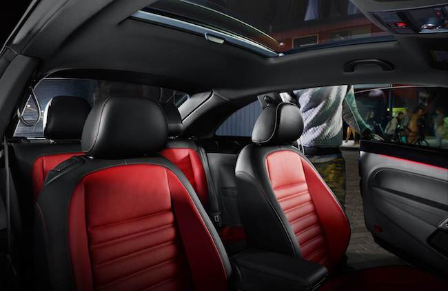 2016 VW Beetle Red and Black interior