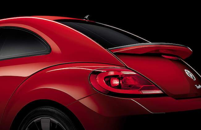 2016 VW Beetle Red from BEhind