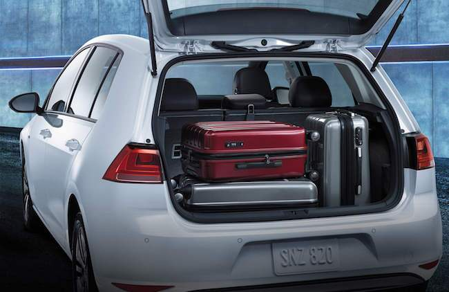 2016 VW e-Golf Interior Cargo Space