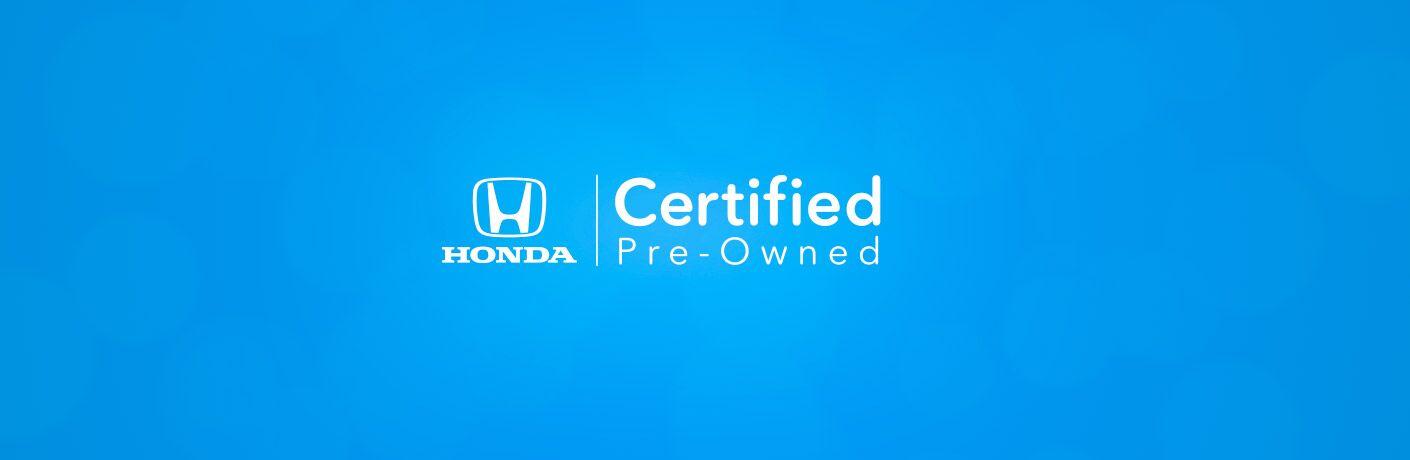 Certified Pre-Owned Honda vehicle program
