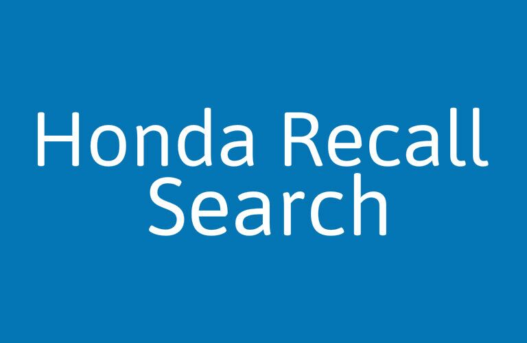 Honda vehicle recall lookup tool