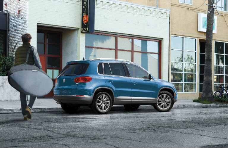 side view of the 2017 vw tiguan