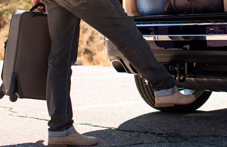 power liftgate opening with foot swipe