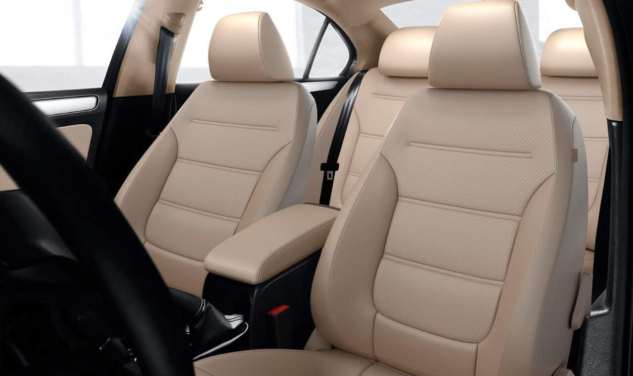 2018 VW Jetta leather seats