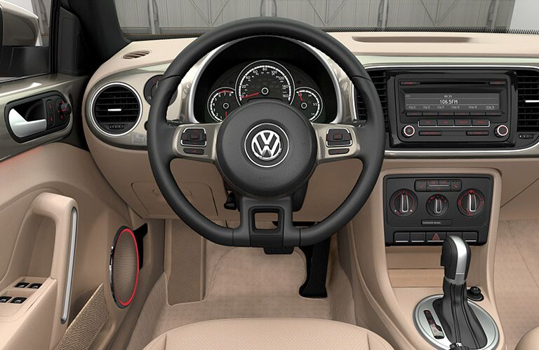 The interior of the 2015 Volkswagen Beetle Convertible Morris County NJ is just as appealing as the exterior.