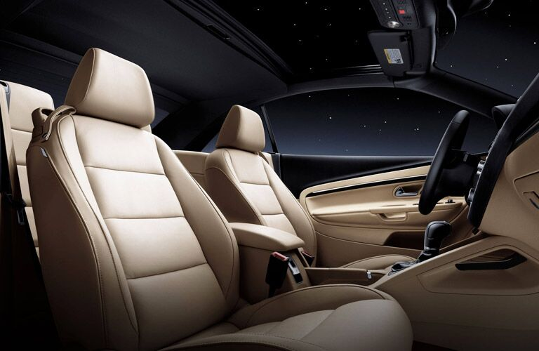 The interior of the 2015 Volkswagen Eos Morris County NJ features leatherette upholstery