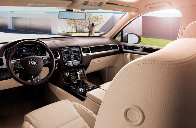 The interior of the 2015 Volkswagen Touareg Morris County NJ proves every detail counts.