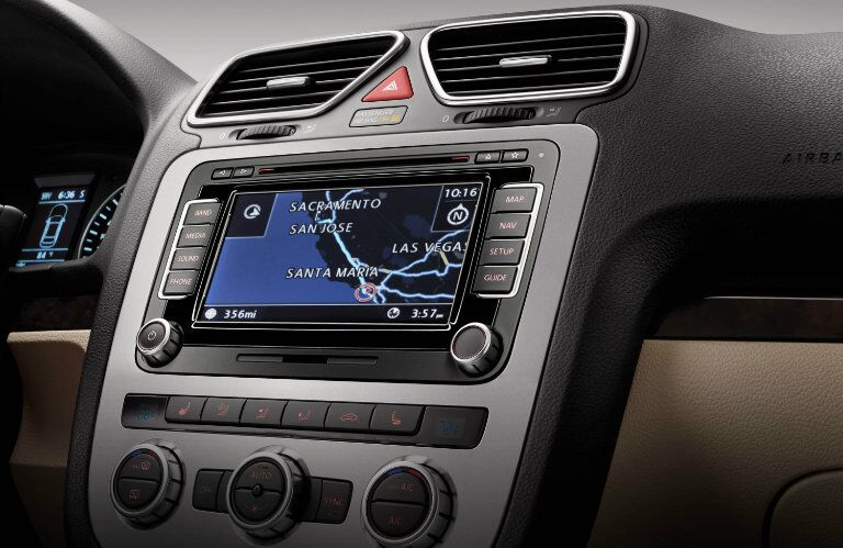 Touchscreen navigation comes standard in the 2015 Volkswagen Eos Morris County NJ