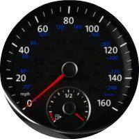 2016 Volkswagen Jetta Hybrid fuel gauge