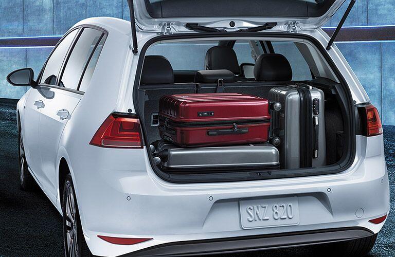 2016 vw e-golf cargo capacity behind rear hatch