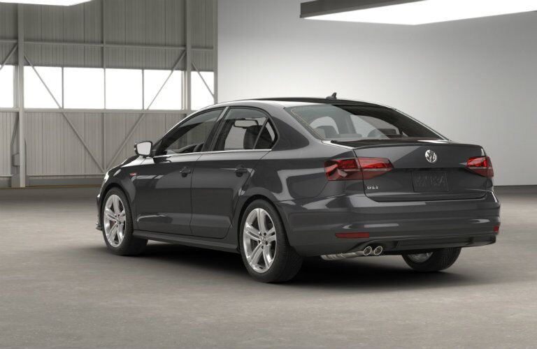 new rear bumper design on the 2016 vw jetta gli