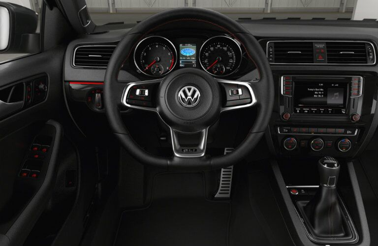 interior design and features on the 2016 vw jetta gli