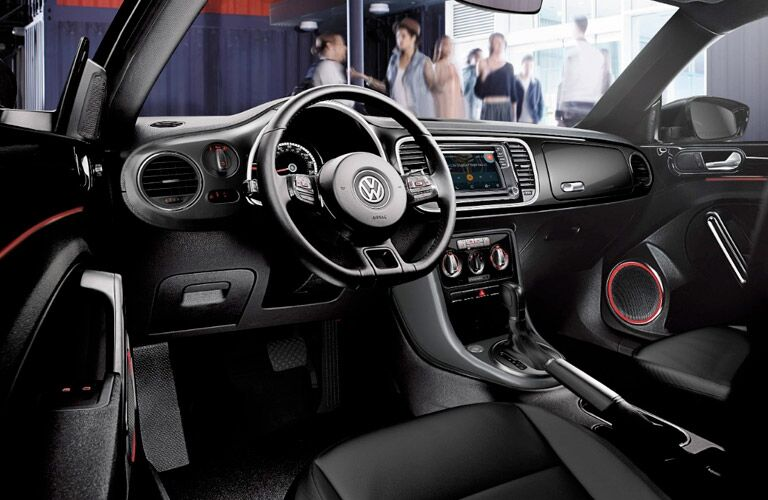 2017 volkswagen beetle interior steering wheel dashboard touchscreen