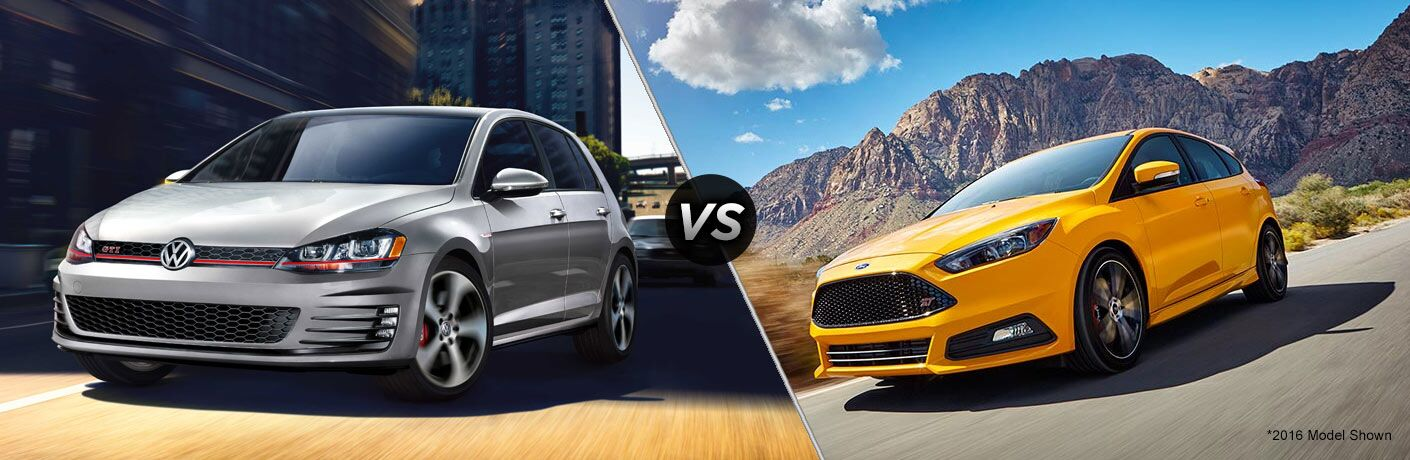 2017 volkswagen golf gti vs 2017 ford focus st