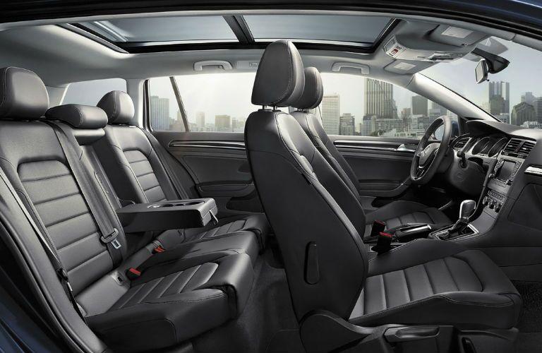 2017 vw golf sportwagen interior rear seats panoramic sunroof