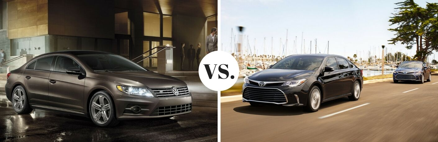 2017 Volkswagen CC vs. 2017 Toyota Avalon