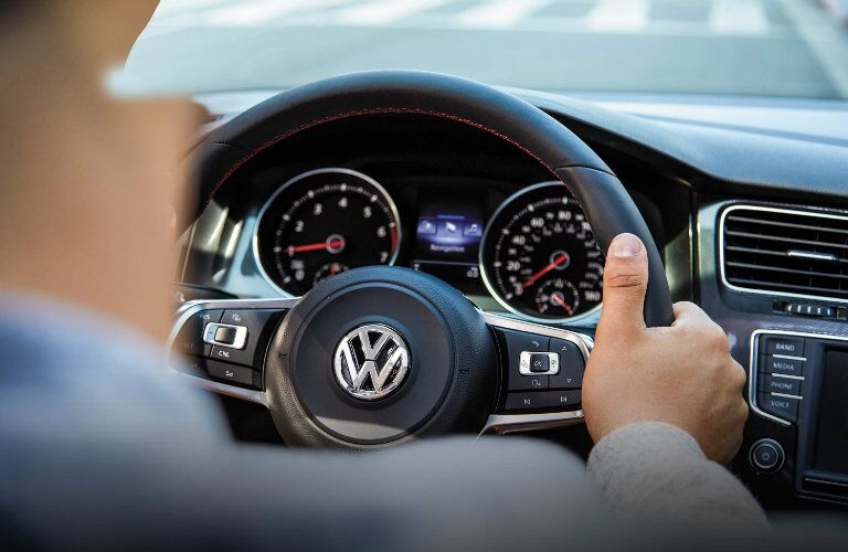 vw golf gti steering wheel controls and design