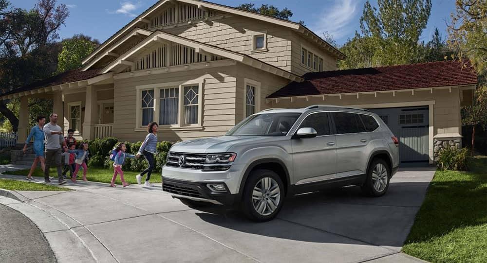 Volkswagen Atlas in the driveway
