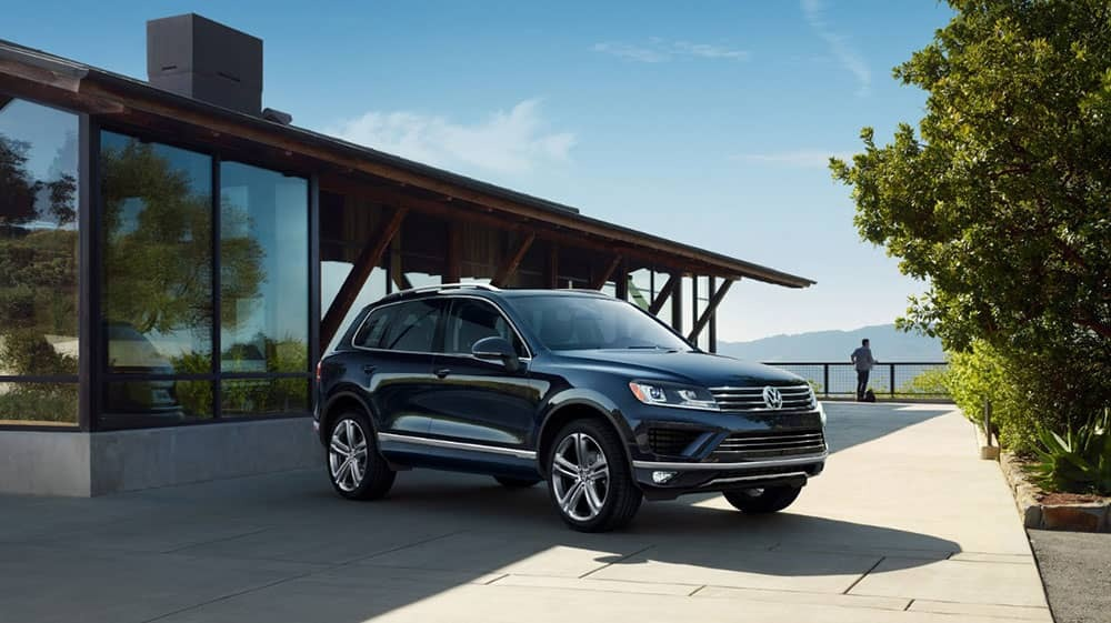 Volkswagen Touareg in driveway