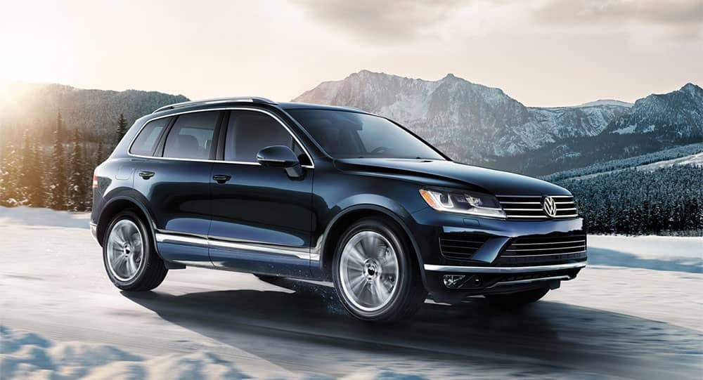 Volkswagen Touareg in the mountains