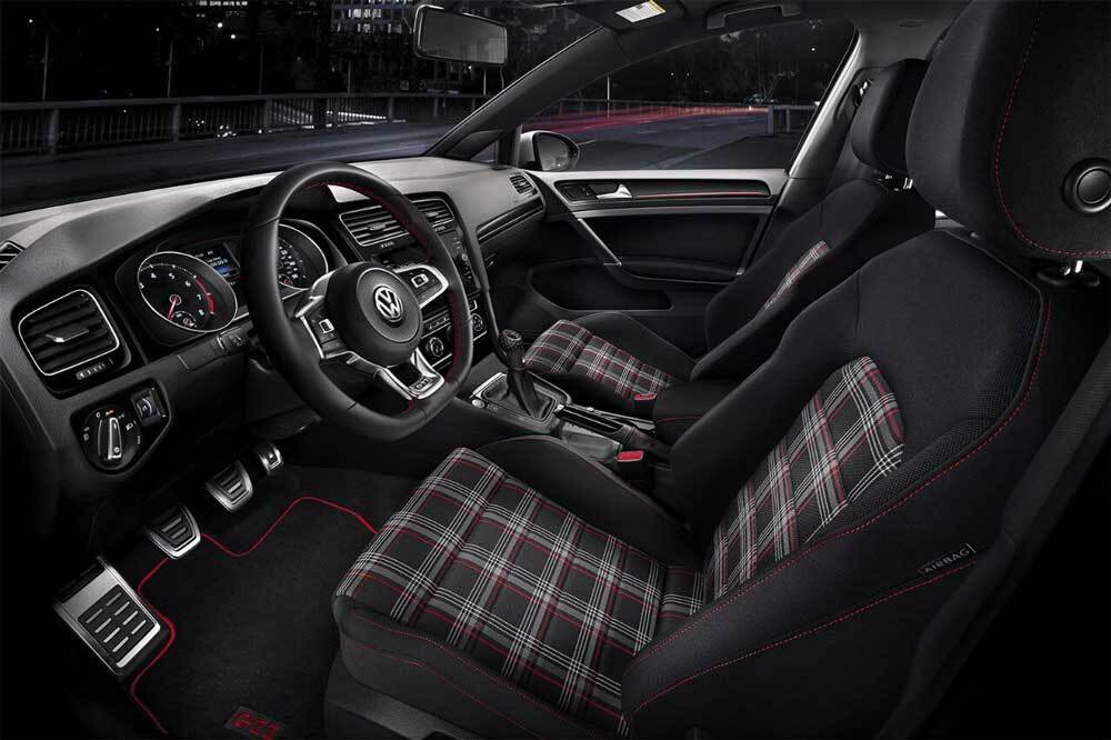 Volkswagen Golf GTI interior seating