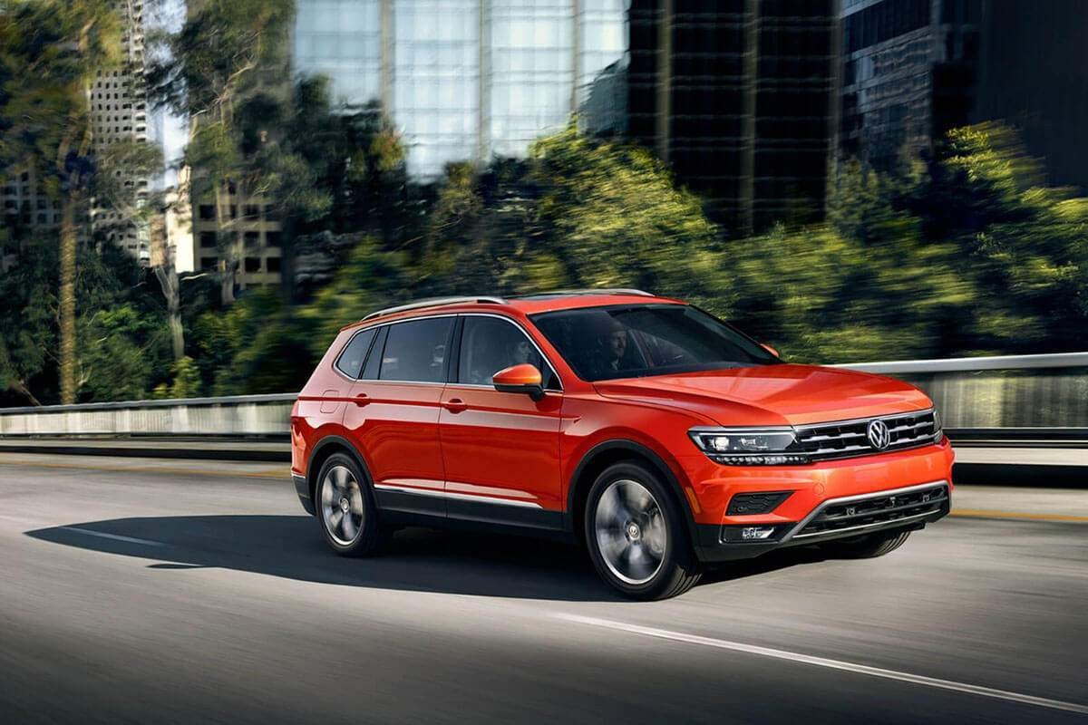 2018 Volkswagen Tiguan on the road