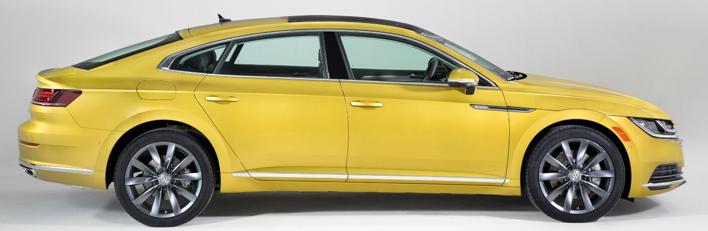 Side View of Yellow 2019 Volkswagen Arteon