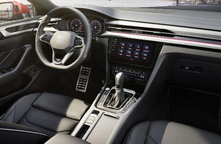 Steering wheel, gauges, and touchscreen in 2021 Volkswagen Arteon