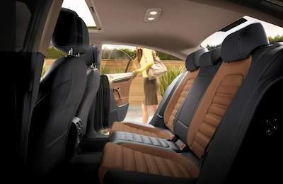 2016 Volkswagen CC Interior Back Seat