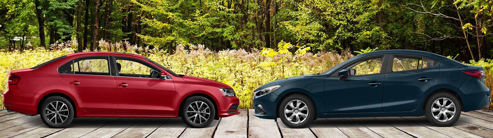 2017 Volkswagen Jetta vs 2016 Mazda3