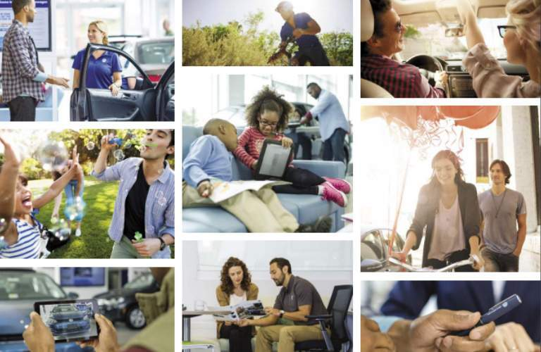 Nine Different Photos of People Benefiting from the Volkswagen College Graduate Program