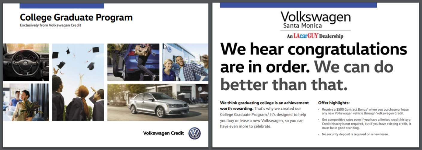 Volkswagen College Graduate Program and VW Santa Monica Title, Highlights and Graduation-Related Photos