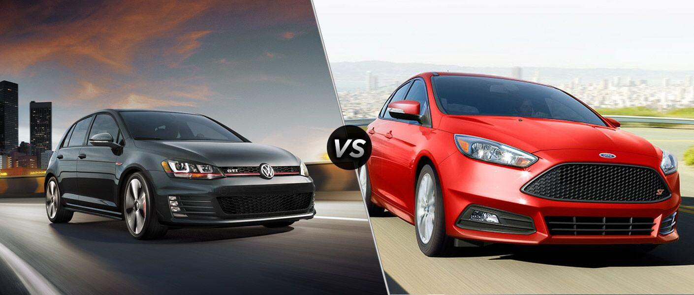 2016 Volkswagen Golf GTI vs 2016 Ford Focus ST