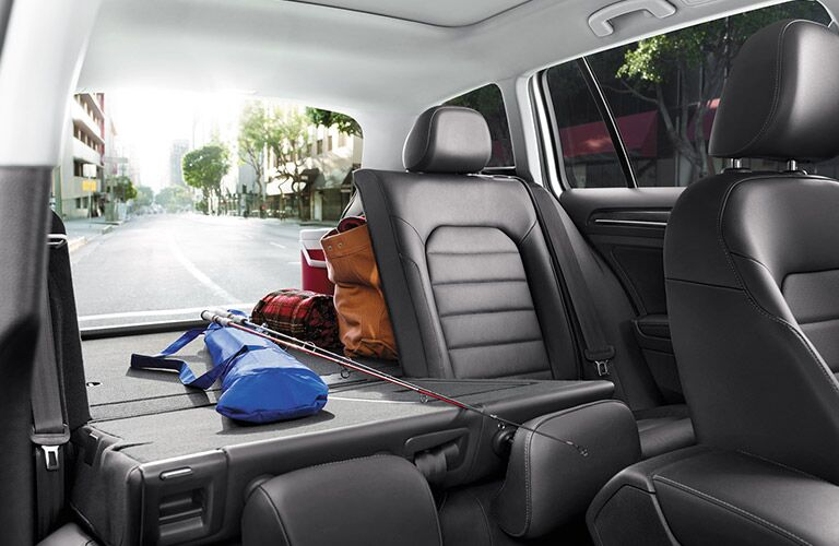 2016 VW Golf SportWagen cargo space with seats in place