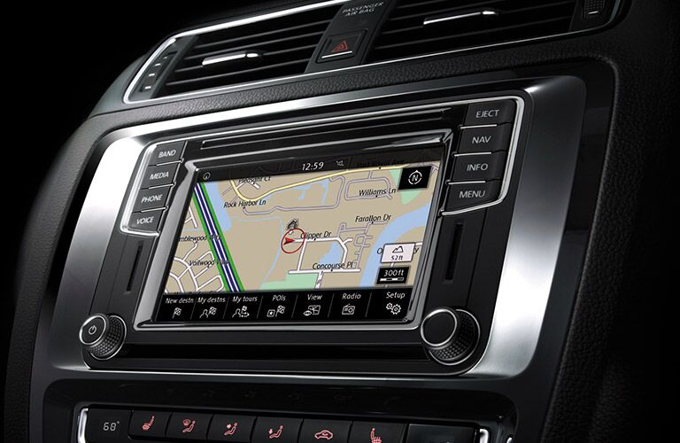 2016 vw jetta touchscreen size